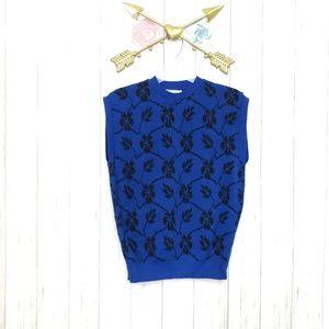 Pendleton Black & Blue Wool Vest Size Medium